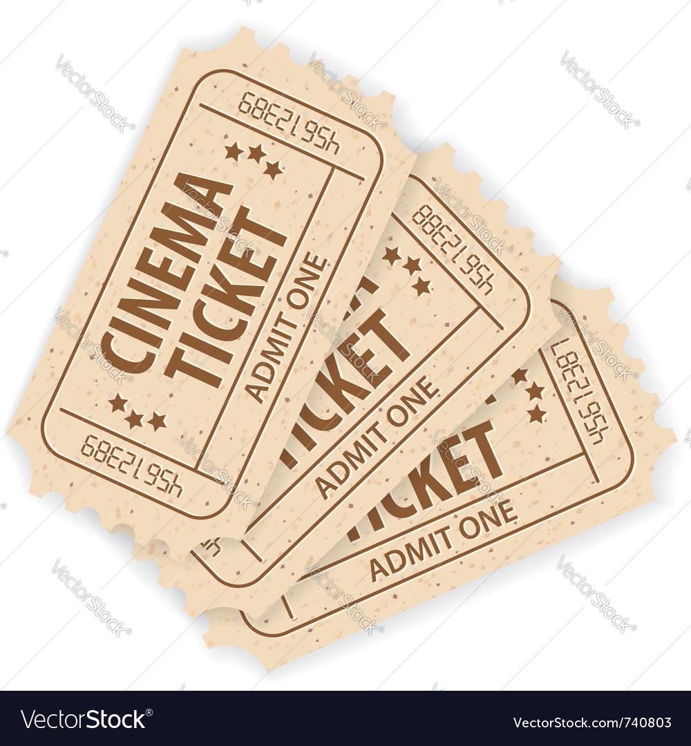 Cinema tickets vector | Price: 1 Credit (USD $1)
