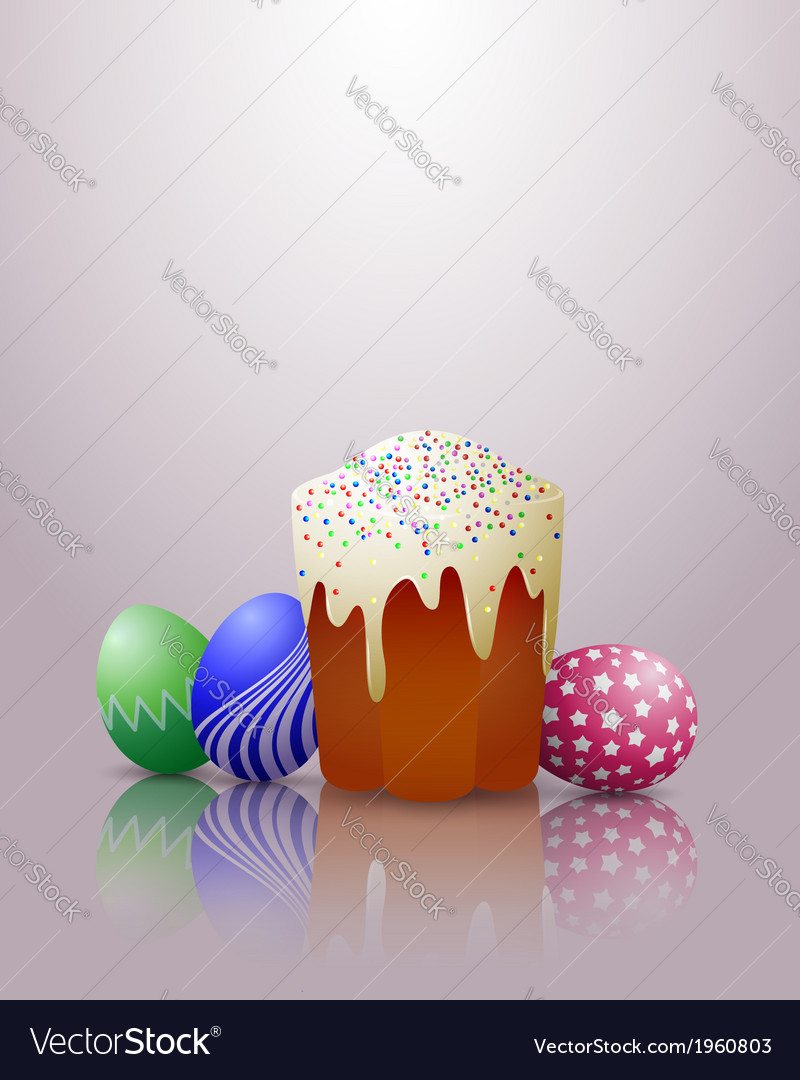 Easter cake eggs vector | Price: 1 Credit (USD $1)