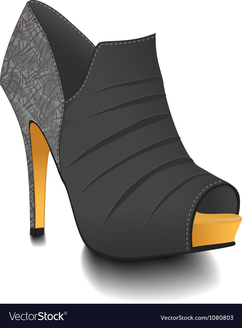 Fashion heel boot vector | Price: 1 Credit (USD $1)