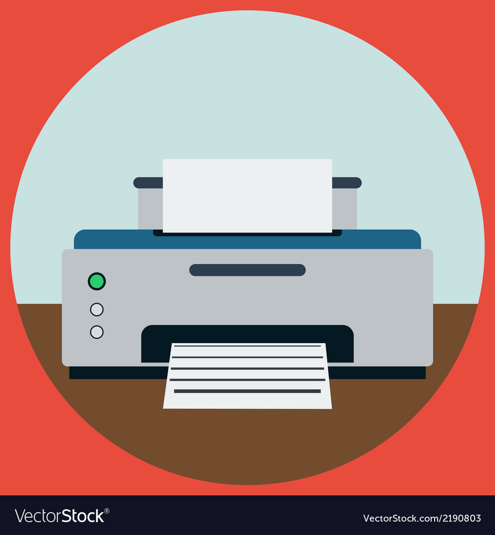 Home printer vector | Price: 1 Credit (USD $1)