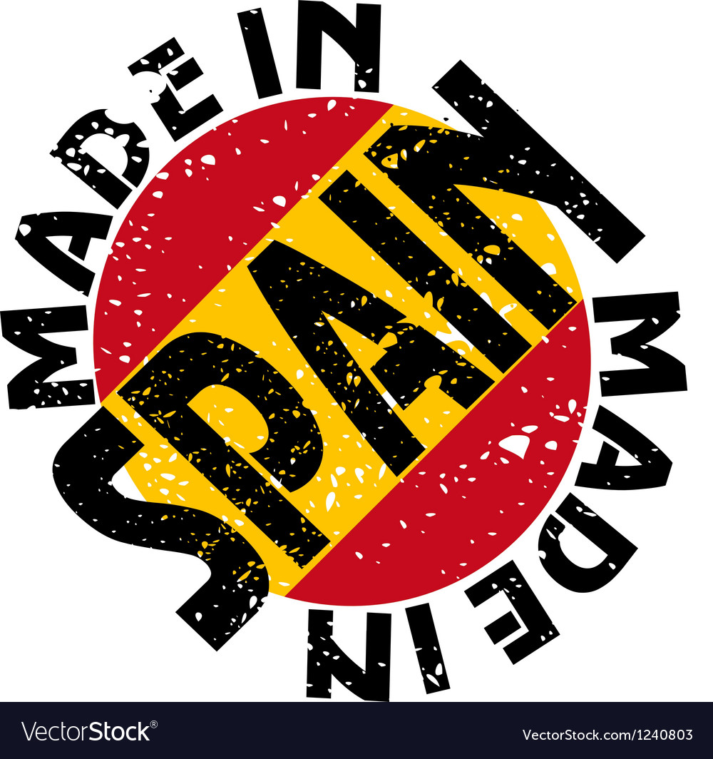 Made in spain vector | Price: 1 Credit (USD $1)