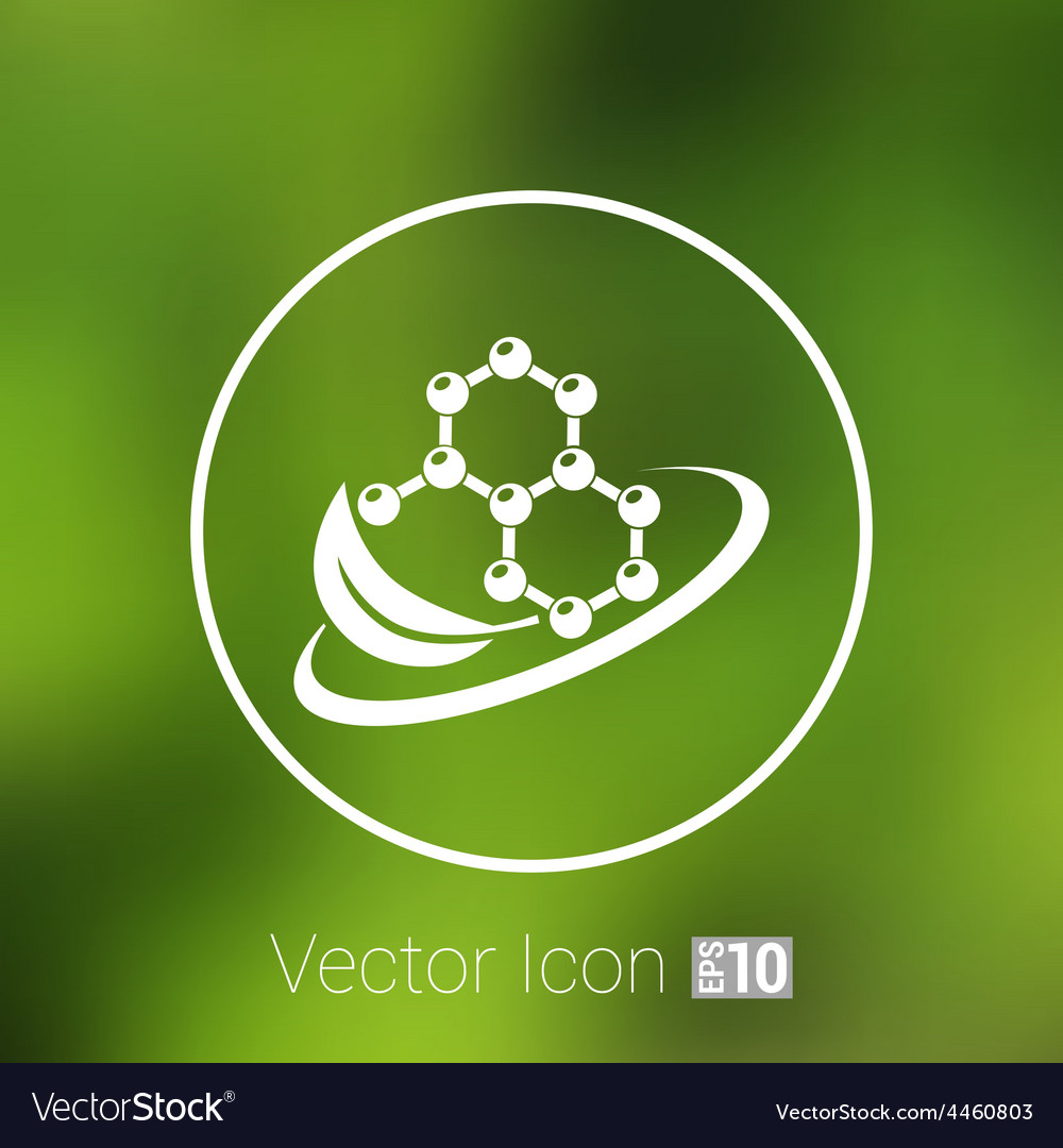 Natural components icon molecule science nature vector | Price: 1 Credit (USD $1)