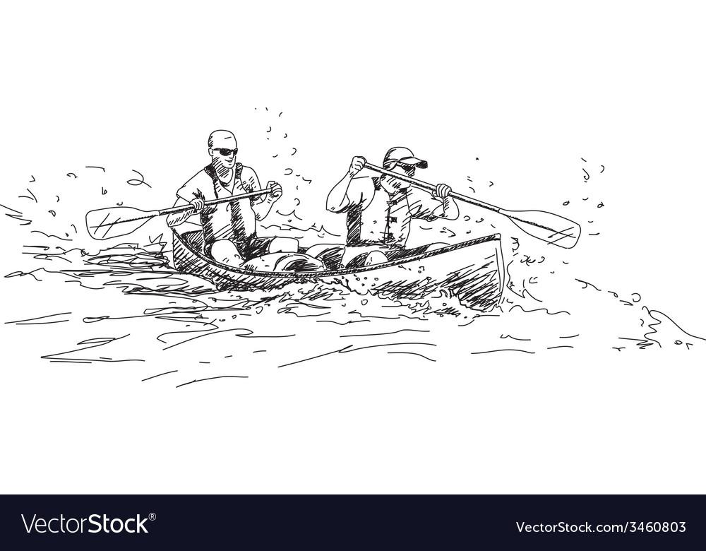 Sport canoe vector | Price: 1 Credit (USD $1)