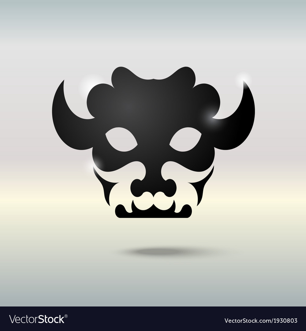 Tattoo skull of a bull vector | Price: 1 Credit (USD $1)