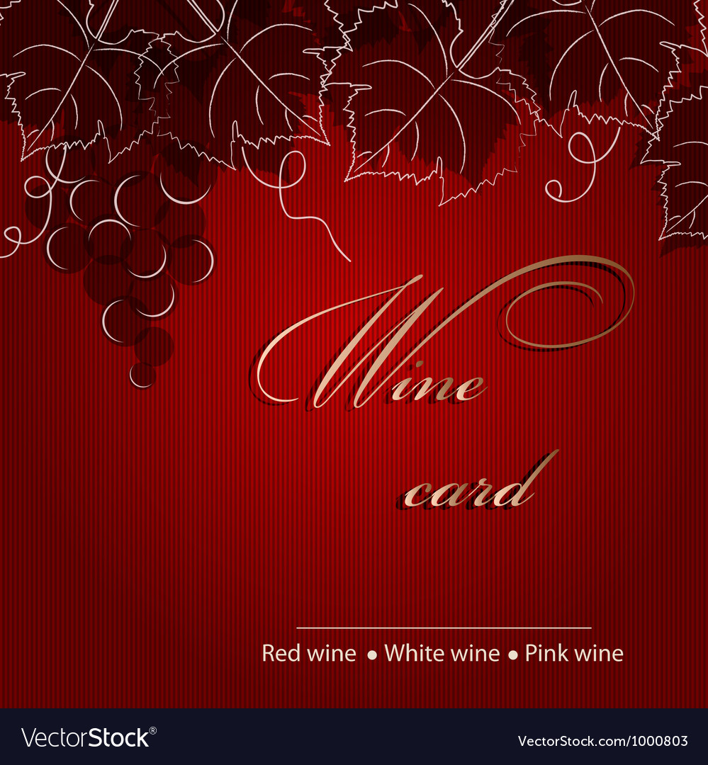 Template of alcohol card with grapes vector | Price: 1 Credit (USD $1)