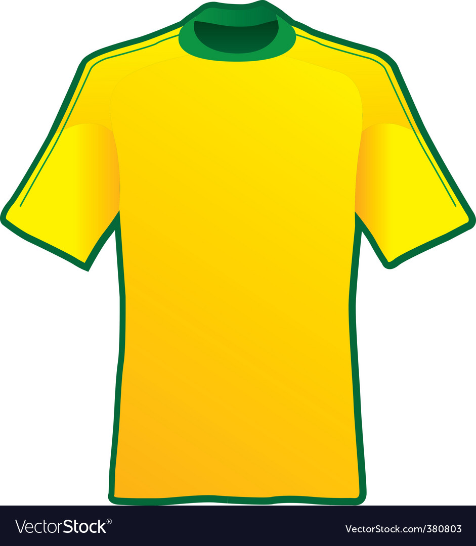 T-shirt of soccer of brazil vector | Price: 1 Credit (USD $1)