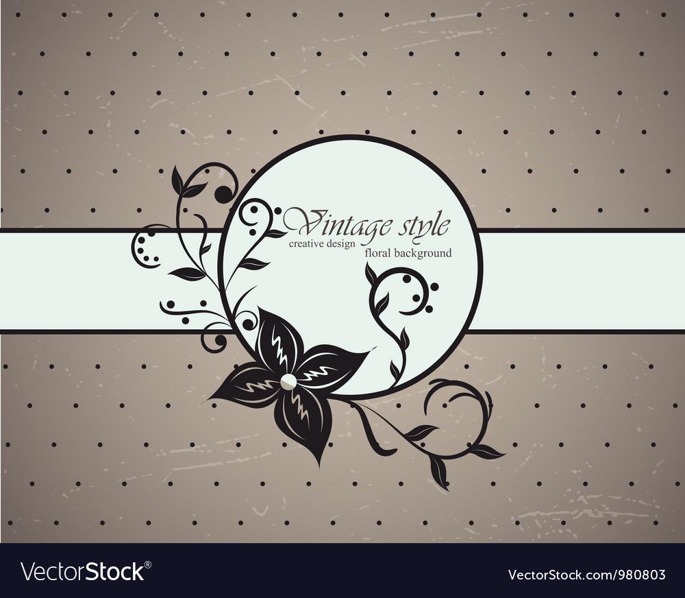Vintage card vector   Price: 1 Credit (USD $1)
