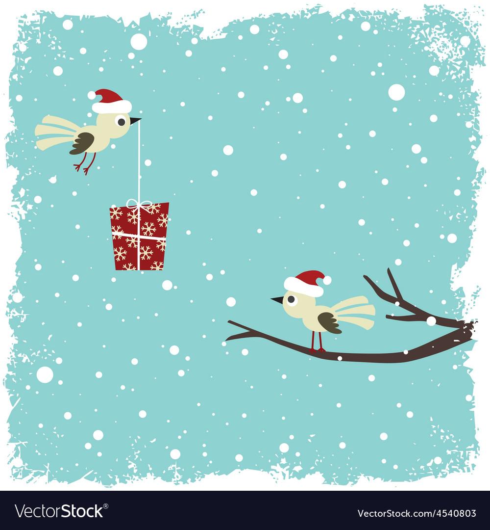 Winter card vector