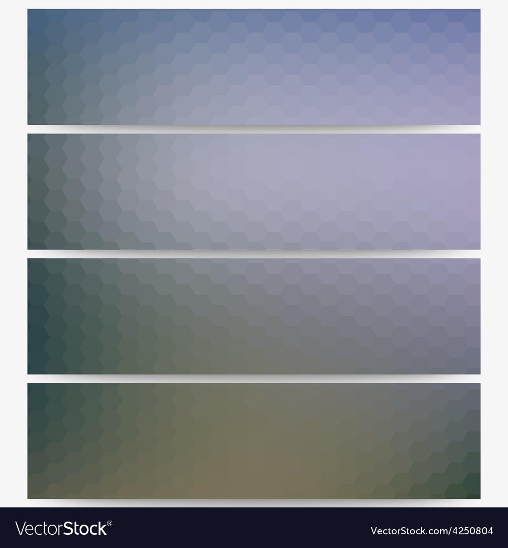 Abstract hexagonal headers set blurred design vector   Price: 1 Credit (USD $1)