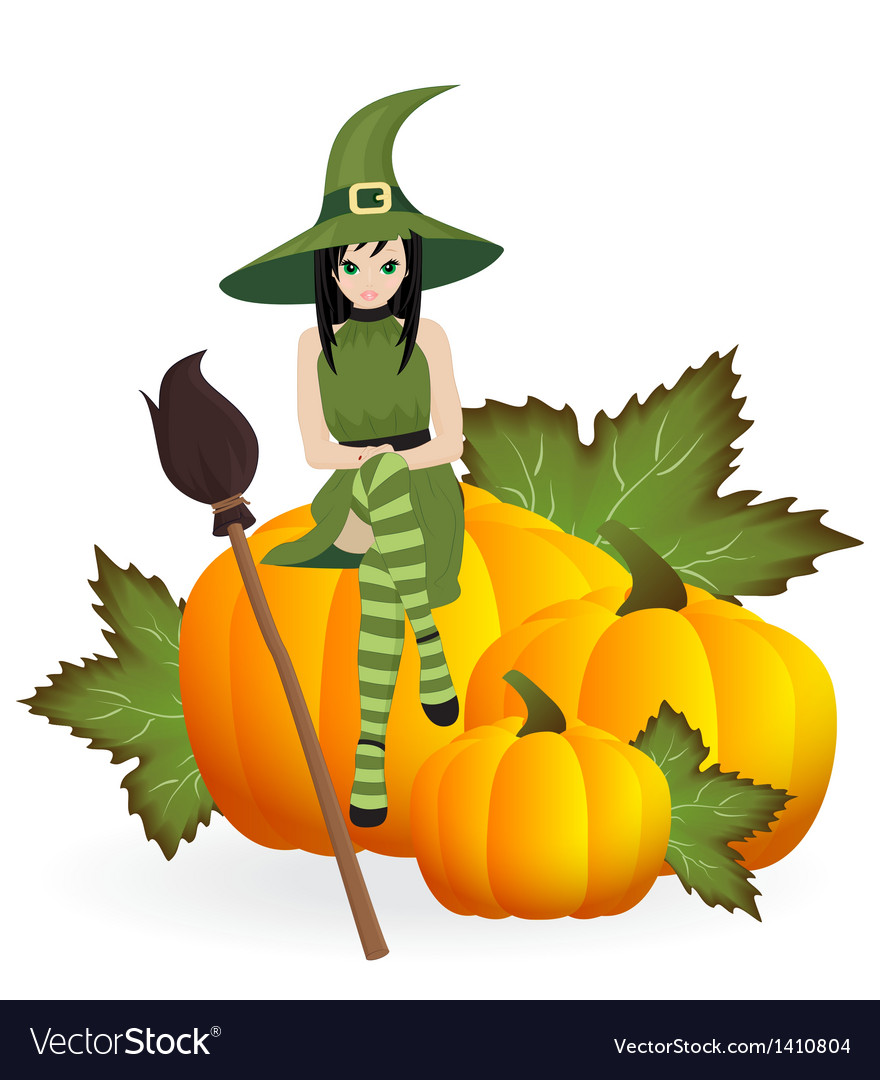 Beautiful witch vector | Price: 1 Credit (USD $1)