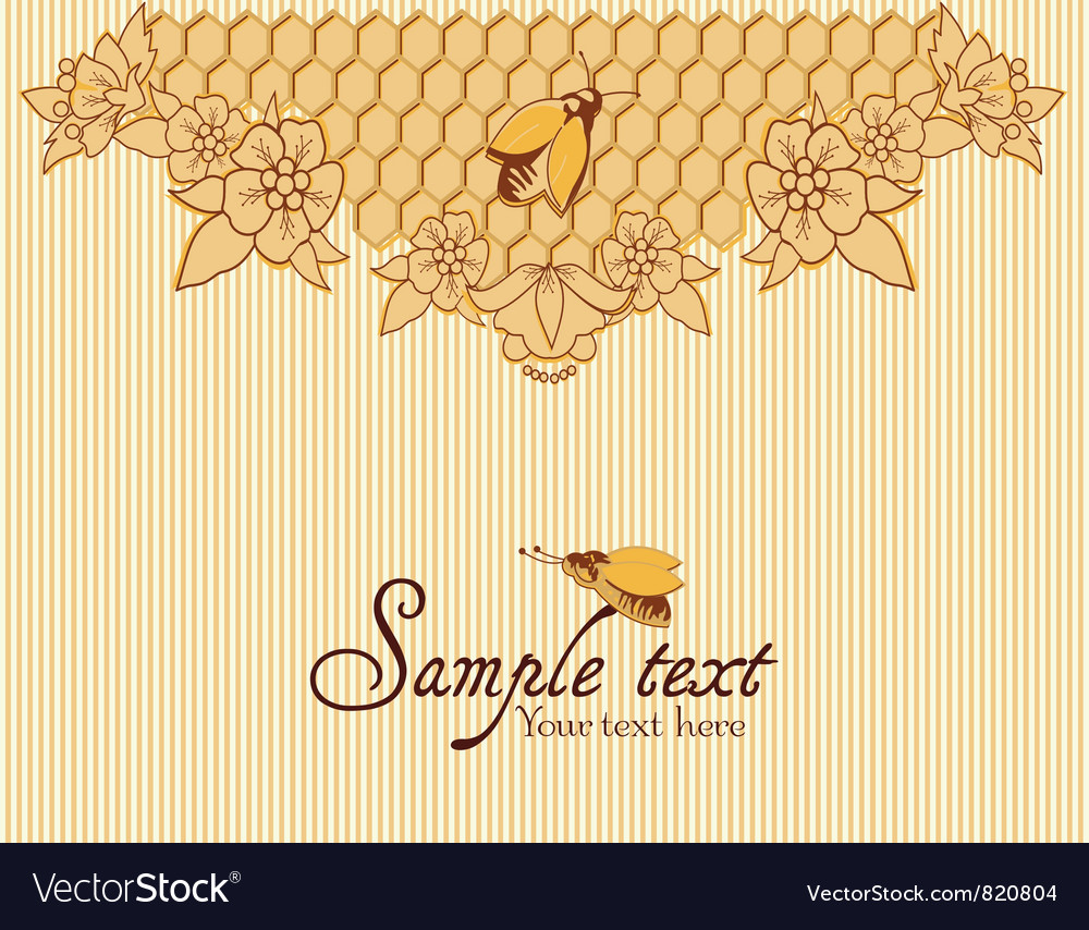 Bees and honeycomb vector | Price: 1 Credit (USD $1)