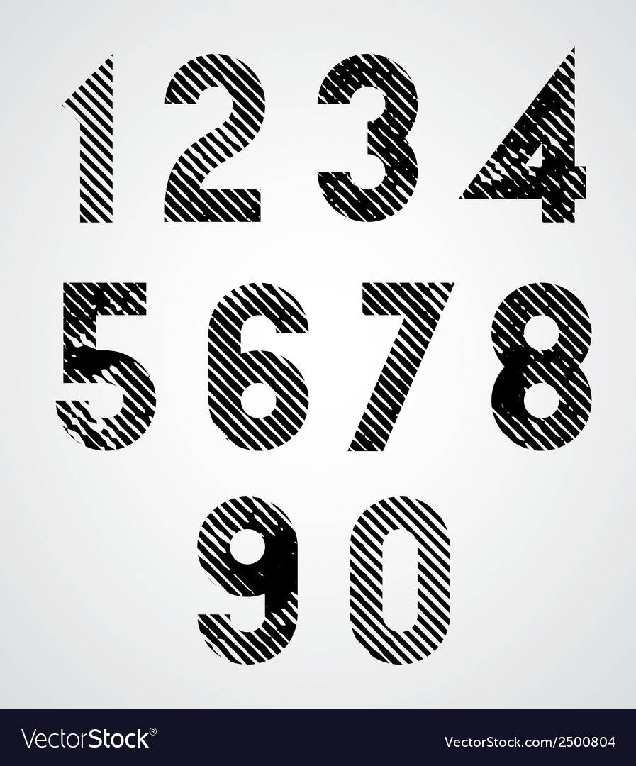 Black spotted numbers with diagonal lines vector | Price: 1 Credit (USD $1)