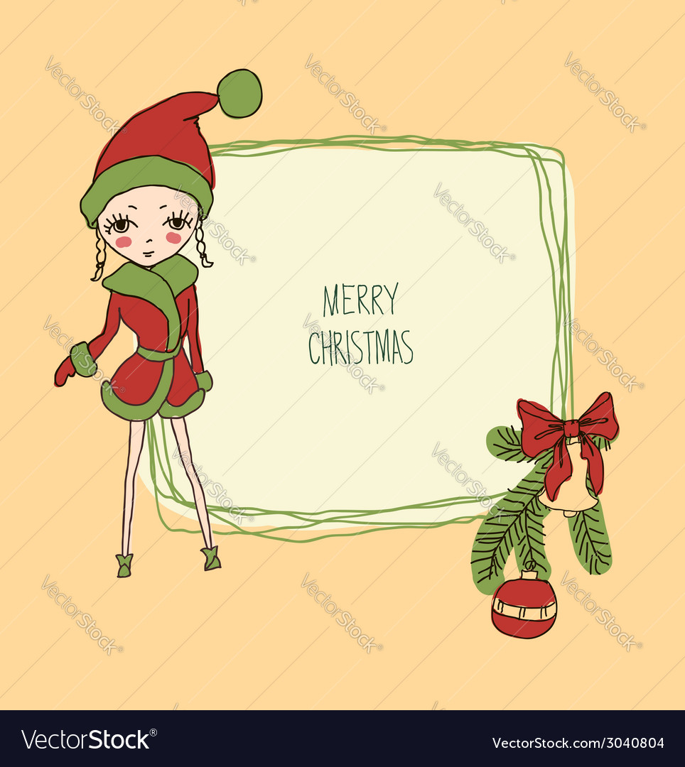 Cute christmas card in vector | Price: 1 Credit (USD $1)