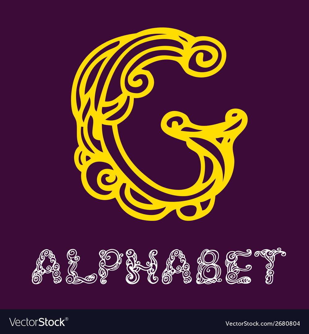 Doodle hand drawn sketch alphabet letter g vector | Price: 1 Credit (USD $1)