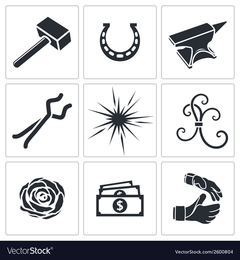 Forge icon collection vector | Price: 1 Credit (USD $1)