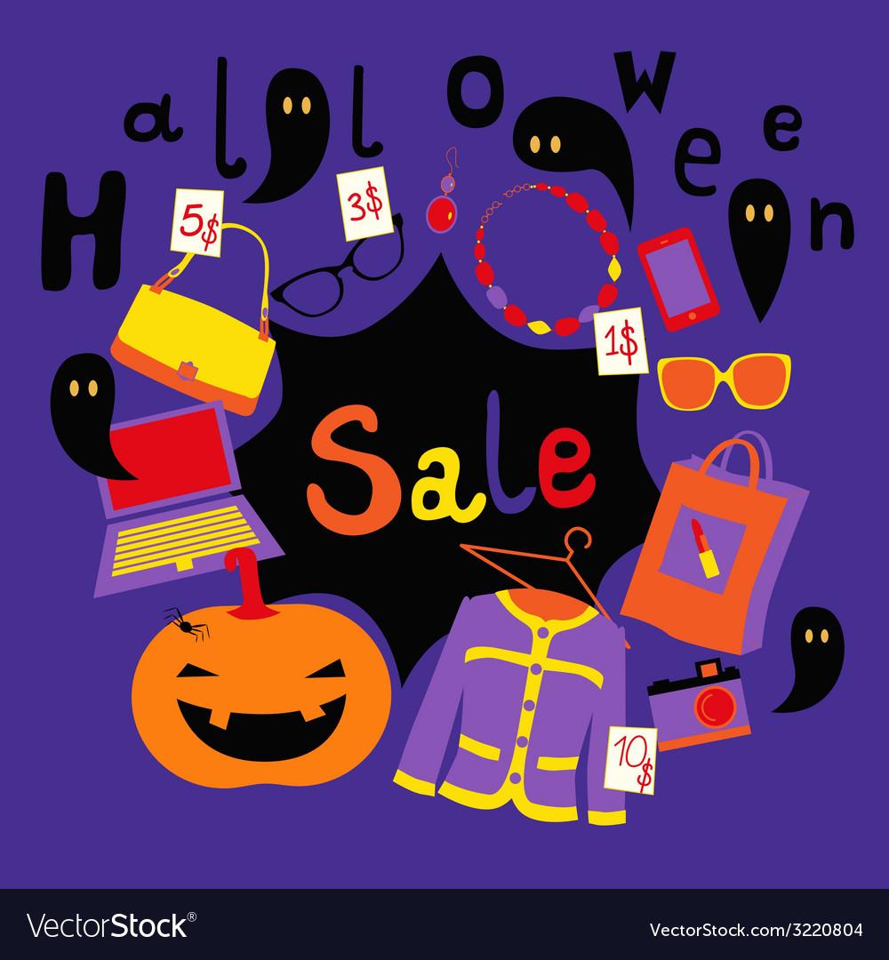 Halloween market print vector | Price: 1 Credit (USD $1)