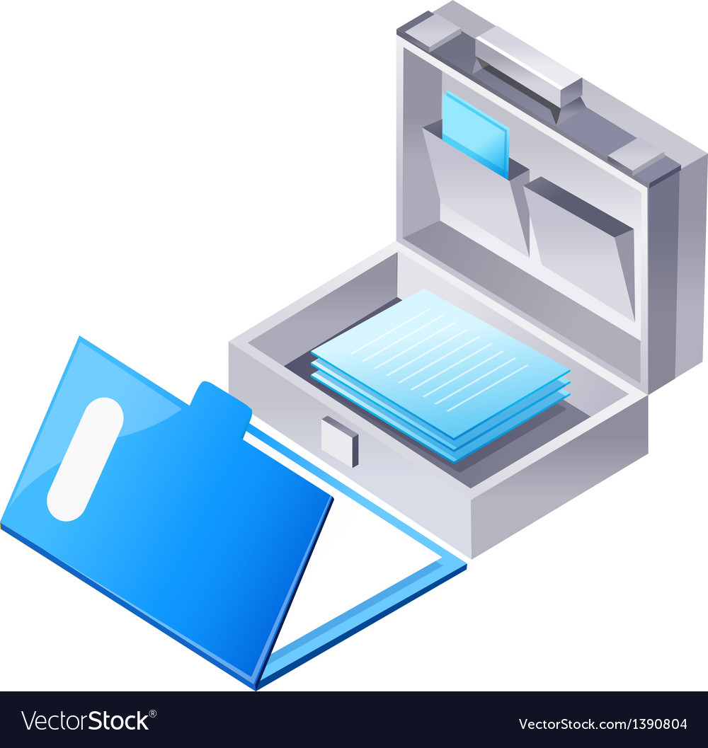 Icon file and brief case vector | Price: 1 Credit (USD $1)
