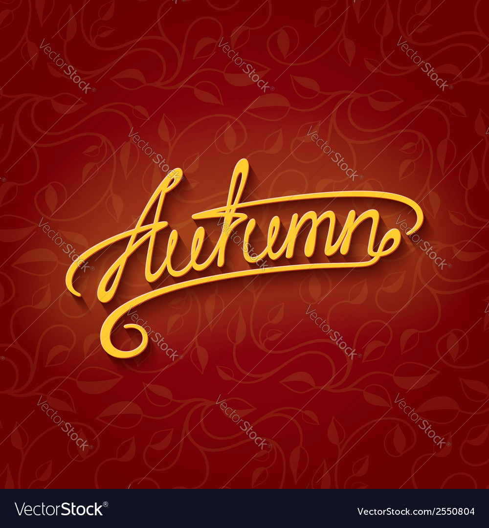 Lettering autumn vector | Price: 1 Credit (USD $1)