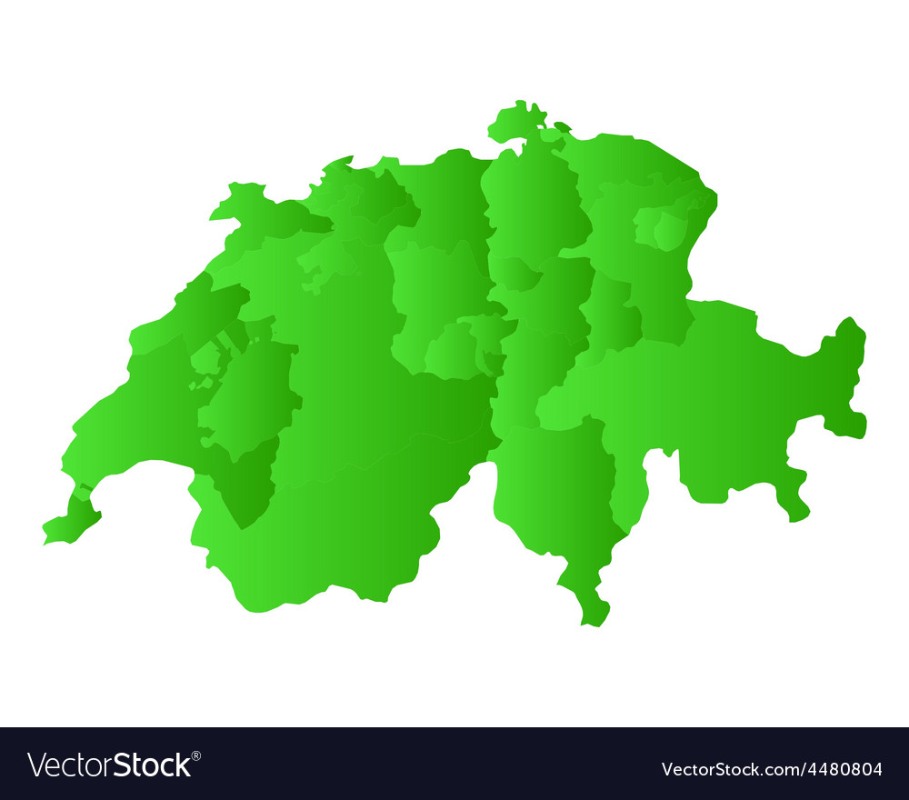 Map of switzerland vector | Price: 1 Credit (USD $1)