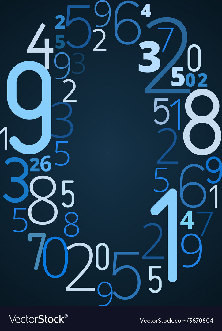 Number 0 font from numbers vector | Price: 1 Credit (USD $1)