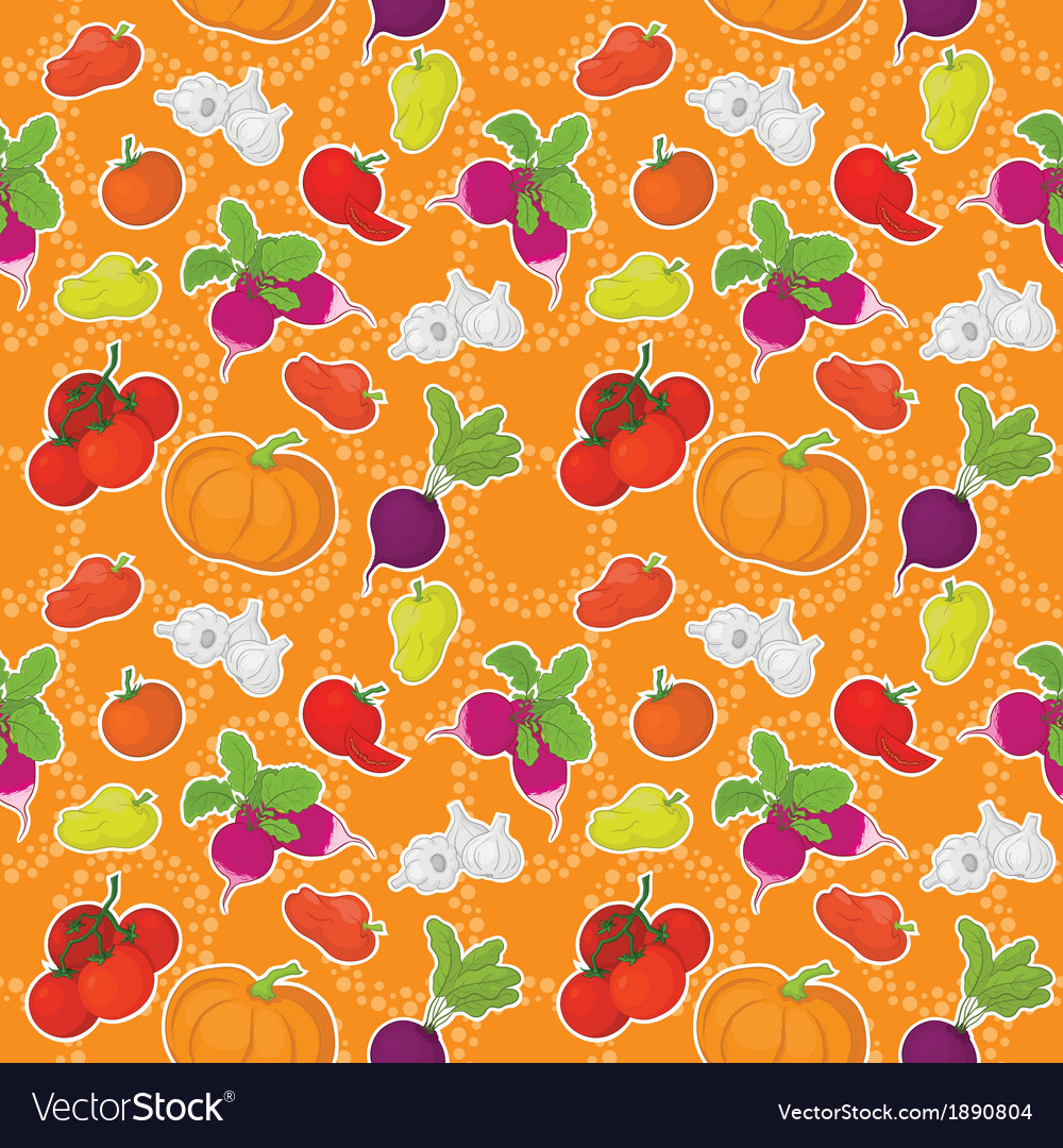 Seamless background vegetables vector   Price: 1 Credit (USD $1)