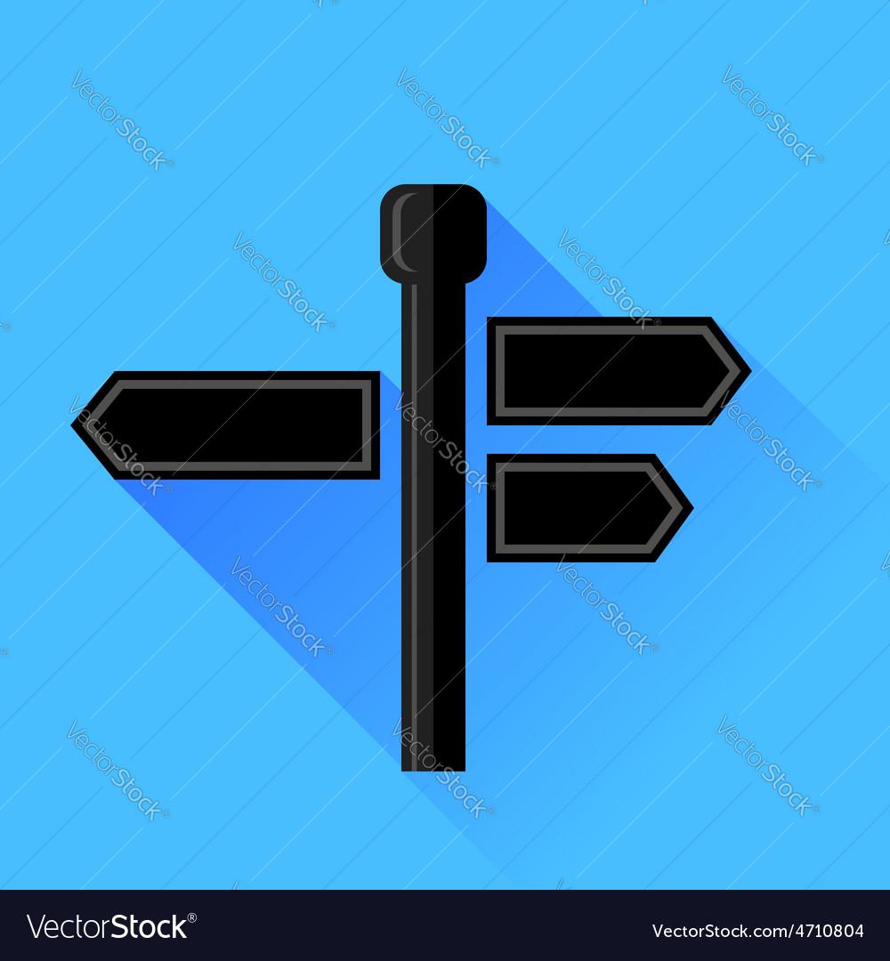 Signpost icon vector   Price: 1 Credit (USD $1)