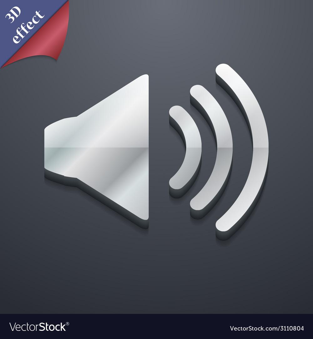 Speaker volume icon symbol 3d style trendy modern vector   Price: 1 Credit (USD $1)
