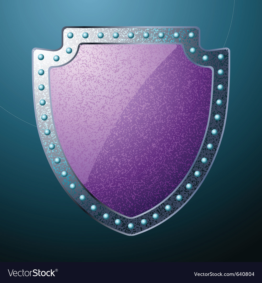 Steel shield vector | Price: 1 Credit (USD $1)