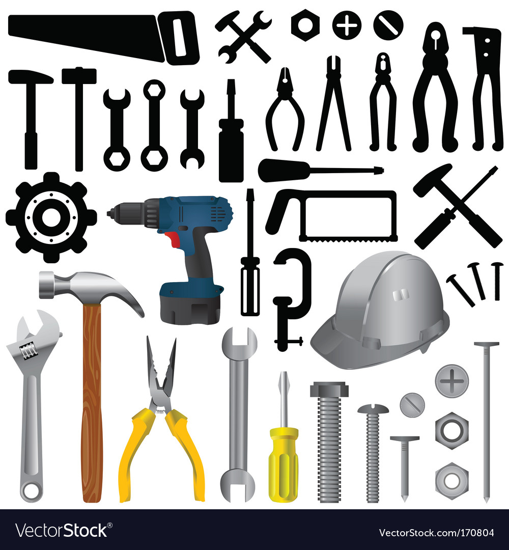 Tool set vector | Price: 1 Credit (USD $1)