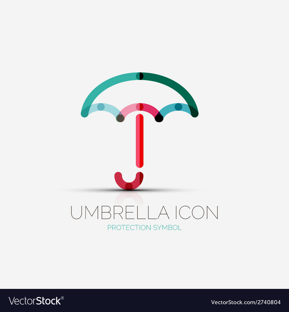 Umbrella protection company logo concept vector | Price: 1 Credit (USD $1)