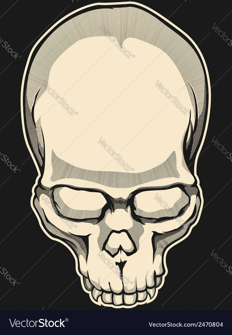 Vintage skull vector | Price: 1 Credit (USD $1)