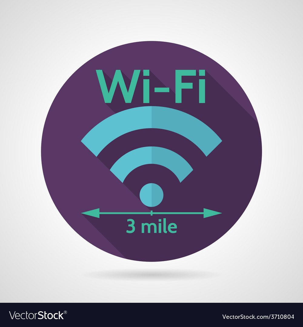 Wireless network flat icon vector | Price: 1 Credit (USD $1)