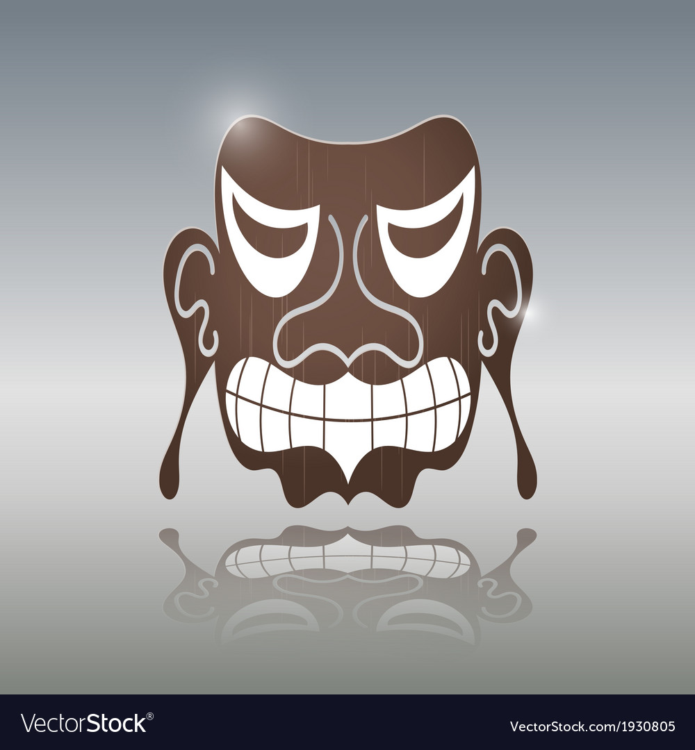 African mask vector | Price: 1 Credit (USD $1)