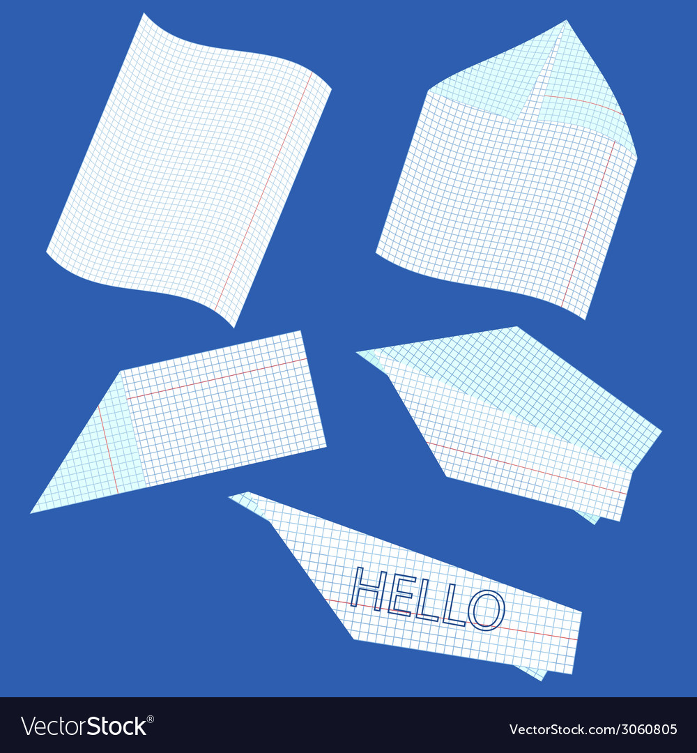 Creation of paper airplane vector | Price: 1 Credit (USD $1)