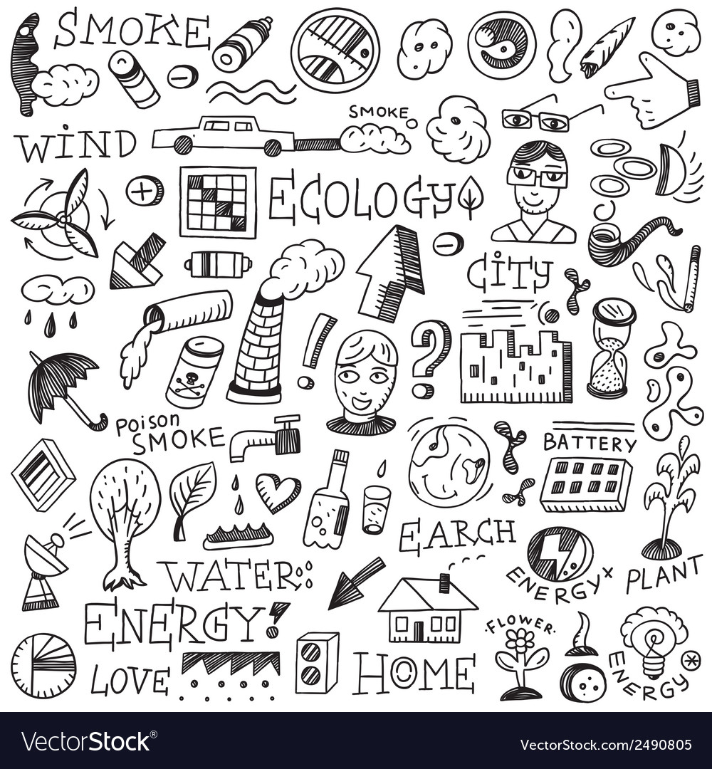 Ecology doodles vector   Price: 1 Credit (USD $1)