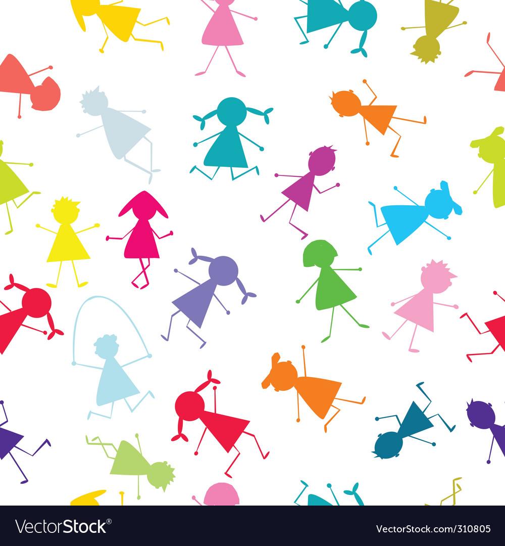 Kids seamless pattern vector | Price: 1 Credit (USD $1)