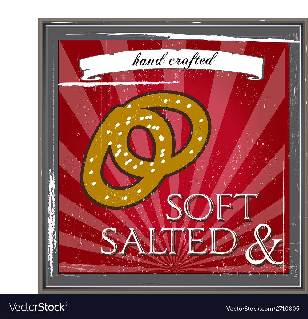 Pretzel poster vector | Price: 1 Credit (USD $1)