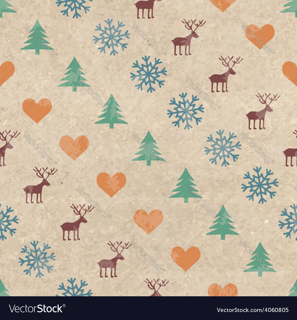 Retro christmas seamless pattern vector   Price: 1 Credit (USD $1)