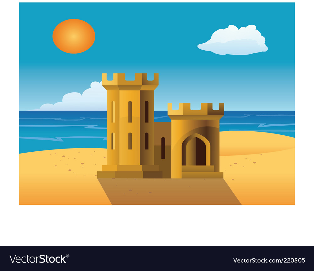 Sandcastle vector   Price: 1 Credit (USD $1)