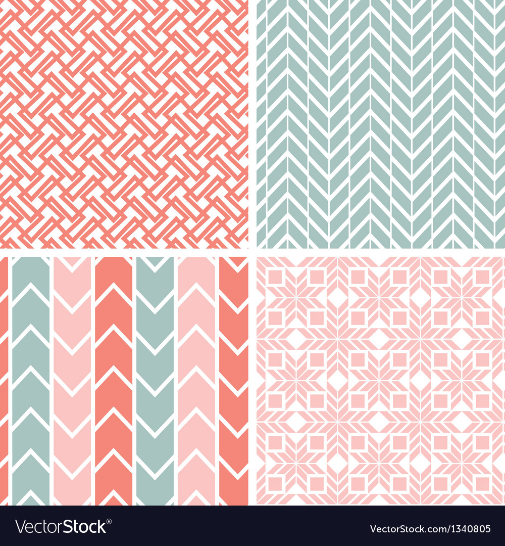 Set of four gray pink geometric patterns and vector | Price: 1 Credit (USD $1)