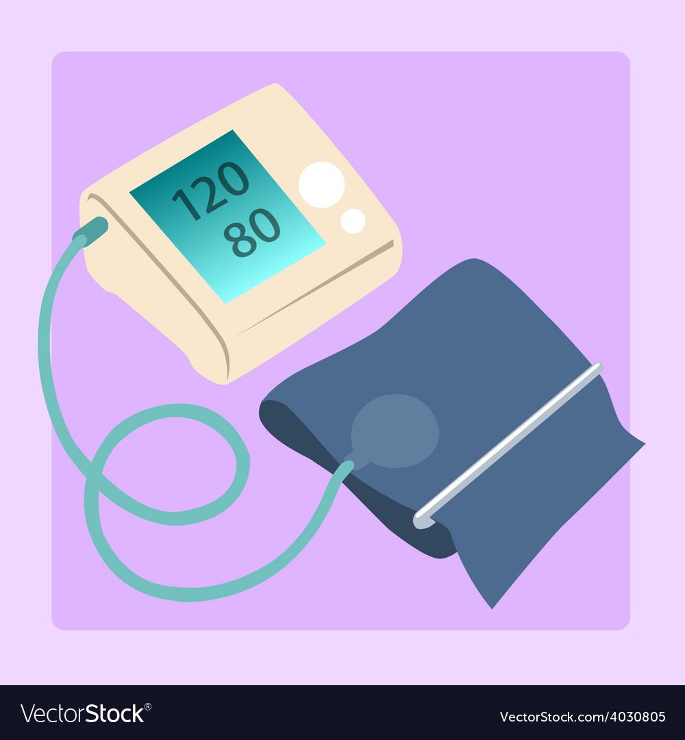 Sphygmomanometer measures blood pressure readings vector | Price: 1 Credit (USD $1)