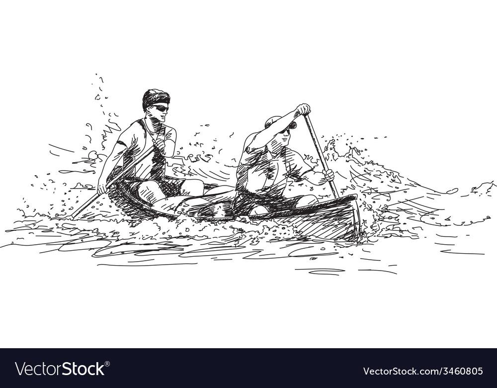 Sport canoe vector   Price: 1 Credit (USD $1)