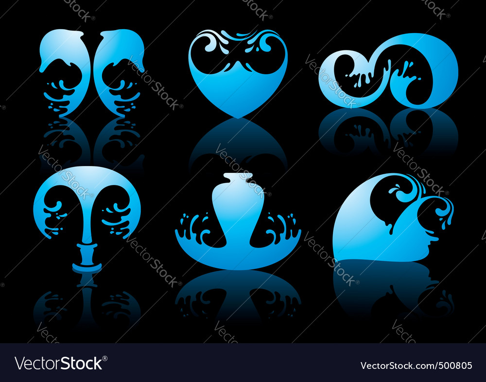 Water reflection vector | Price: 1 Credit (USD $1)