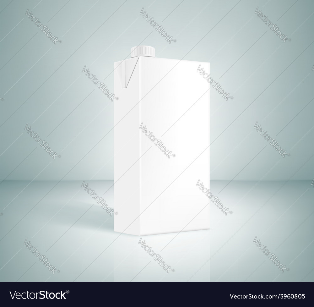 White box of juice vector | Price: 1 Credit (USD $1)