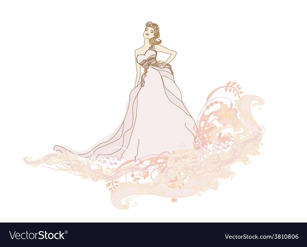 Beautiful bride vector   Price: 1 Credit (USD $1)