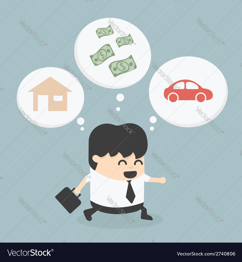 Businessman walking dream vector | Price: 1 Credit (USD $1)