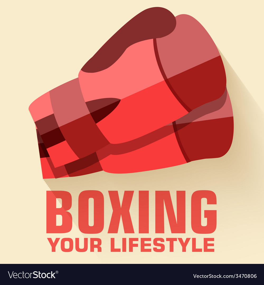 Flat sport boxing background concept flat s vector | Price: 1 Credit (USD $1)