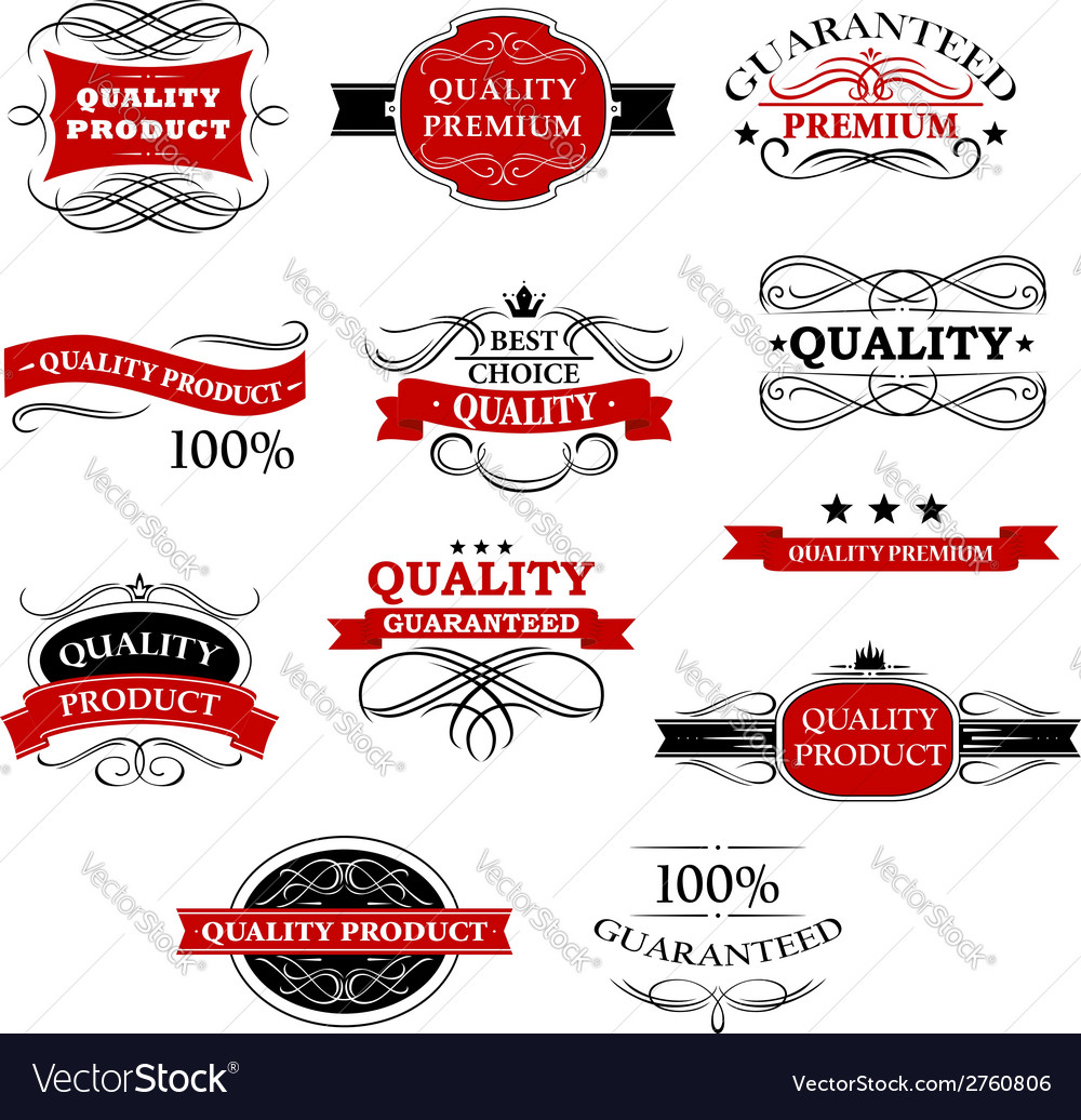 High quality product banners and labels vector | Price: 1 Credit (USD $1)
