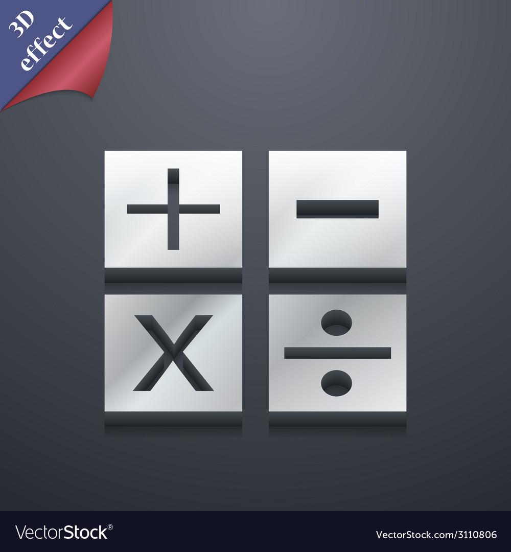 Mathematics icon symbol 3d style trendy modern vector | Price: 1 Credit (USD $1)