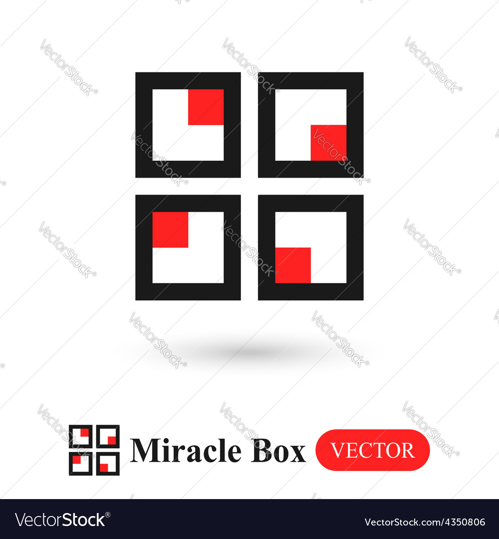 Miracle box abstract symbol vector | Price: 1 Credit (USD $1)